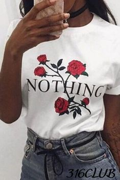 Letter Print T Shirt Rose Harajuku T-Shirt Women 2017 Summer Casual Short Sleeve TShirt Plus Size Punk Shirts T Shirt Rose, Rose Shirts, Arrow T Shirt, Harajuku, Home T Shirts, How To Roll Sleeves, Short Sleeves, Piece Of Clothing, Women's Clothing