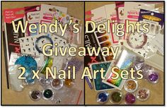 Wendy's Delights: Wendy's Delights Giveaway - 2 x Sets of Nail Art Packs