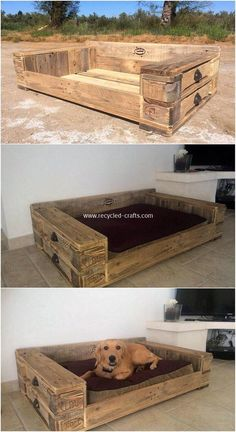 Latest DIY Wood Pallet Ideas That Will Make You Fall in Love Bett ideen Wood Pallet Projects Bett DIY Fall ideas Ideen Latest love Pallet Wood Free Wooden Pallets, Diy Wood Pallet, Pallet Dog Beds, Wood Pallet Furniture, Dog Furniture, Recycled Pallets, Diy Pallet Projects, Wooden Diy, Wood Pallets