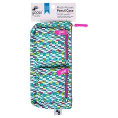 Yoobi Multi-Pocket Pencil Case - Aqua Diamond,