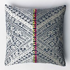 Thai Embroidered Two-Tone Pillow Cover   West Elm