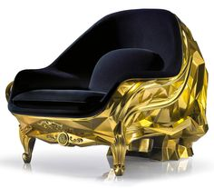 Harow's gold-plated skull armchair carries a $500k price tag