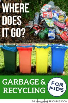 FUN Garbage and Recycling Lesson Plans for Kindergarten, Preschool, Elementary – The Homeschool Resource Room Kindergarten Lesson Plans, Kindergarten Activities, Preschool Activities, Lessons For Kids, Science Lessons, Art Lessons, Recycling For Kids, Recycling Activities For Kids, Recycling Information