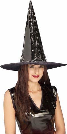 Black Vinyl Witch Hat