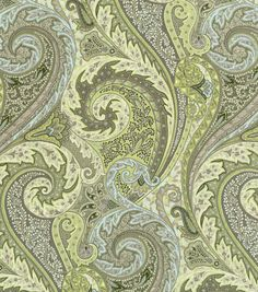 Upholstery Fabric-Williamsburg Jaipur Paisley Shade