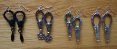 recycled zipper earrings by underthemountain on Etsy, $15.00