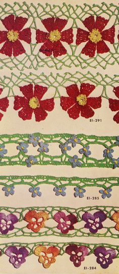 Floral Insertions and Floral Edgings Book 263 sk268  | skerin