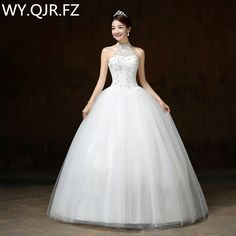 LYGH63#Manufacturers selling 2017 new Korean wedding dress Lace Up skirt plus size Floor-Length wedding gown white wholesale #Affiliate