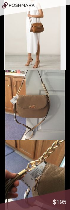NEED TO SELL QUICK Michael KorsBEDFORD convertible REASONABLE OFFERS ALWAYS WELCOME, NO LOWBALL OFFERS PLEASE. New Michael Kors Dark Camel  color Bedford tassel convertible shoulder bag . Bundle up and save Michael Kors Bags Shoulder Bags