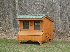 This seems like a practical and attractive, traditional kind of coop...but maybe my hens will be hip chicks who will want something more whimsical.