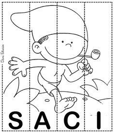 jogo-quebra-cabeca-com-personagens-folcloricos-SACI — Só Escola Professor, Snoopy, Kids Rugs, Teaching, Education, Banners, Infant Activities, Family Tree For Kids, Owl Tattoo Design