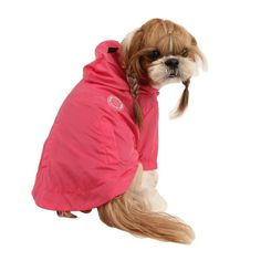 Wind Breaker Dog Raincoat by Puppia - Hot Pink