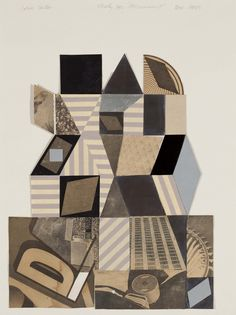 John Carter RA, Study for a Monument, Collage, 680 x 550 mm © the artist. Color Theory, My Images, Plane, Collage, Study, Sculpture, Abstract, Pattern, Painting