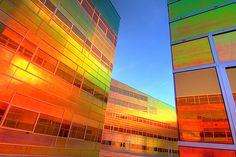 color radiant film applied to the Exterior glass, by UN Studio