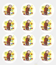 12 -Curious George Edible Cupcake Toppers A Birthday Place http://www.amazon.com/dp/B00867LRCO/ref=cm_sw_r_pi_dp_LbU9vb0YAQSBT