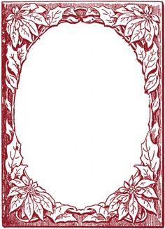 Poinsettia Frame images