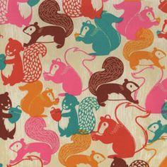 Hoffman Woodland Creatures Squirrels Woodstock Red