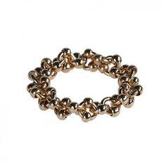 """Der Ring """"Molecular"""" in Gold wird aus vergoldetem Schmuckmessing in Handarbeit gefertigt. Handmade in Germany!"""