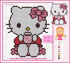 Delicado Cantinho: Gráfico Ponto Cruz Montagem Hello Kitty