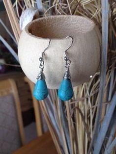 17% discount Turquoise Earrings, Turquoise drop earrings, Turquoise dangle earrings, turquoise jewelry, tear drop turquoise earrings, boho c