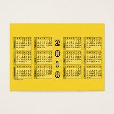 2018 Gold Calendar by Janz Chubby Business Card