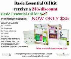 I'm offering an awesome special for the next few weeks on our essential oil basic starter kit as I want to help as many fellow Aussie Mums get started with essential oils as possible. It's a great way to try some of our most popular oils including stress away for just $35. Plus you get wholesale pricing on all our products when you buy the kit. Buy now at https://www.youngliving.com/signup/?isoCountryCode=AU&sponsorid=1162233&enrollerid=1162233 Ps. The ABN is just for therapists.