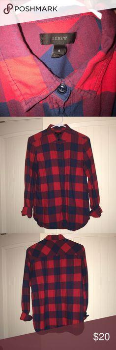 Buffalo plaid flannel Red/blue buffalo plaid flannel J. Crew Tops Button Down Shirts