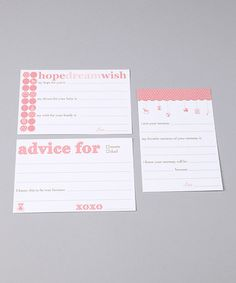 Baby Advice Cards