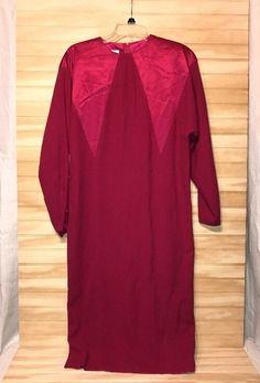 Vintage 70's Francesca Of Damon For Starington Wool Red Dress Sz 8