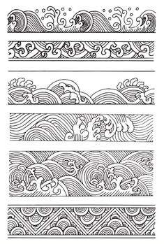 Online Shop junminTransparent Clear Silicone Stamps Seal for DIY Scrapbooking Photo Album Paper Craft Decorative Embossing Stamp Sheet 069 a Aliexpress Mobile Japanese Tattoo Art, Japanese Art, Japanese Waves, Japanese Sleeve, Art Sketches, Art Drawings, Wave Drawing, Mandala Drawing, Embossing Stamp