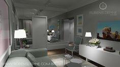 Resultado de imagem para sala de estar e tv pequenas integradas