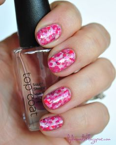 Dots over dots over dots - end up with almost a water color look effect.