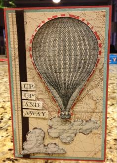 Hot air balloon card!