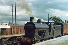 On the 'Derry Road' - the GNR's Portadown to Derry line - Strabane Station Old Steam Train, Steam Locomotive, Back In Time, Diesel Engine, Ireland, Nostalgia, Trains, Boats, Irish