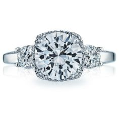 Tacori engagement ring from the Dantela collection. This gorgeous design features diamond enhancers blooming your choice of a center stone http://www.genesisdiamonds.net/tacori-2623rd-engagement-ring.html