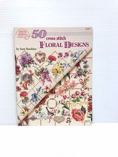 FLOWER CROSS STITCH PATTERN, floral cross stitch design, counted cross stitch #AmericanSchoolofNeedlework