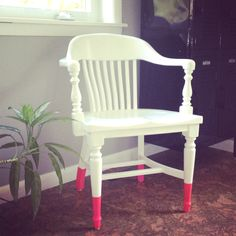 Dip dye the legs of my new chairs after painting white? Color pop with less work if/when I change my mind.