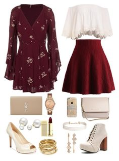 """""""Mom vs Me"""" by fyustiazari on Polyvore featuring Free People, Marc Fisher, Chicwish, Qupid, Yves Saint Laurent, Givenchy, Agent 18, Henri Bendel, Humble Chic and Allurez"""