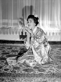 Maria Callas for Madame Butterfly by Giacomo Puccini, 1955  Fawn Velveteen