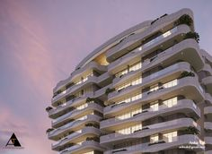 Residence project by Ankit tak at Coroflot.com Beach Villa, Building Facade, Facade Architecture, Facades, Buildings, Multi Story Building, Tower, Urban, Projects
