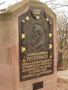 Targa commemorativa di Feuerbach a Norimberga