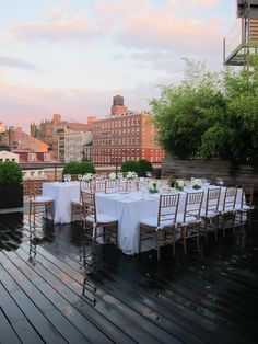 www.marygiuliani.com  Rooftop NYC dinner party  #MGCE