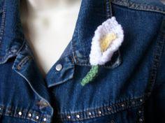 Lily Brooch Pin Corsage Buttonhole  by thekittensmittensuk on Etsy, £4.99