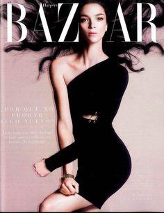 #VersusEditorials - Maximizing black. Maria Carla Boscono for Harper's Bazaar Spain March '15. #VersusVersace #VaccarelloXVersus Stylist - Juan Cebriàn
