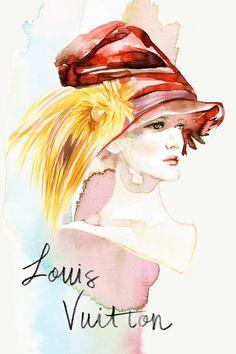 Louis Vuitton Fashion Week accessories illustration by Samantha Hahn.
