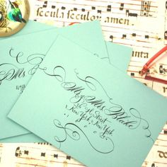 Hand Lettering for Invitation Addressing  Loopy Luxe and by eDanae, $2.50