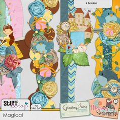 Magical Border Clusters by Mommy me Time Scrapper and Growing Pains Scrapped
