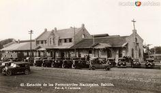 EstacióndelFerrocarril en Saltillo, Coahuila (c. 1927).