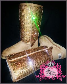 Stunning! With over 10,000 #Swarovski crystals, these Ugg boots are sure to stop traffic!!