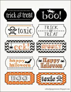 Halloween Tags - The Delawder Matthews 2013 Halloween Party {Faith, Hope, Love, & Luck Survive Despite a Whiskered Accomplice} - #Halloween #Party #Printables #Bengal #Cat